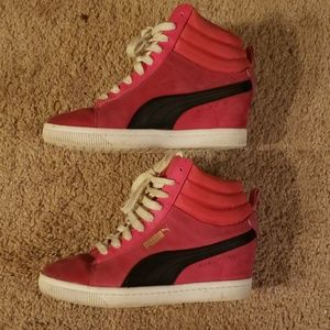 Puma Shoes - Puma hidden wedge sneakers- Pink size 7
